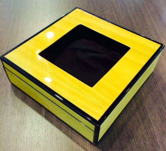Needlework Box , Yellow Gloss, Colors Vary
