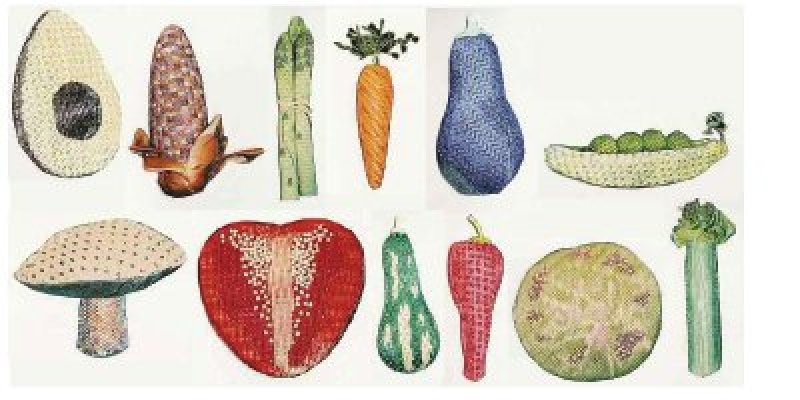 Beaded Vegetables