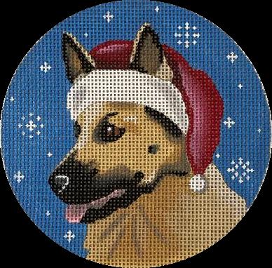 Ornament, German Shepherd Santa