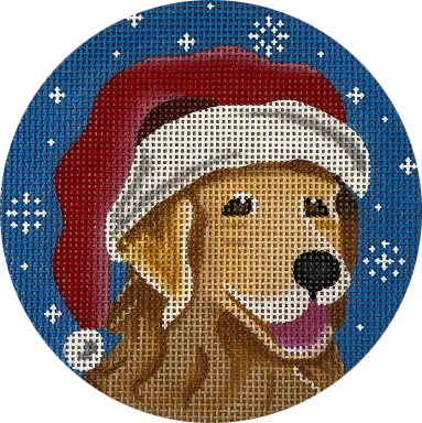 Ornament,  Ornament Golden Retriever Santa