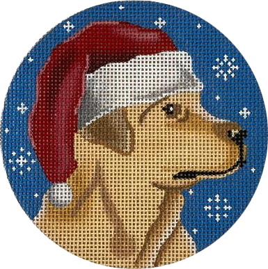 Ornament, Yellow Lab Santa