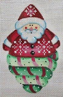 Ornament, Santa Swirl