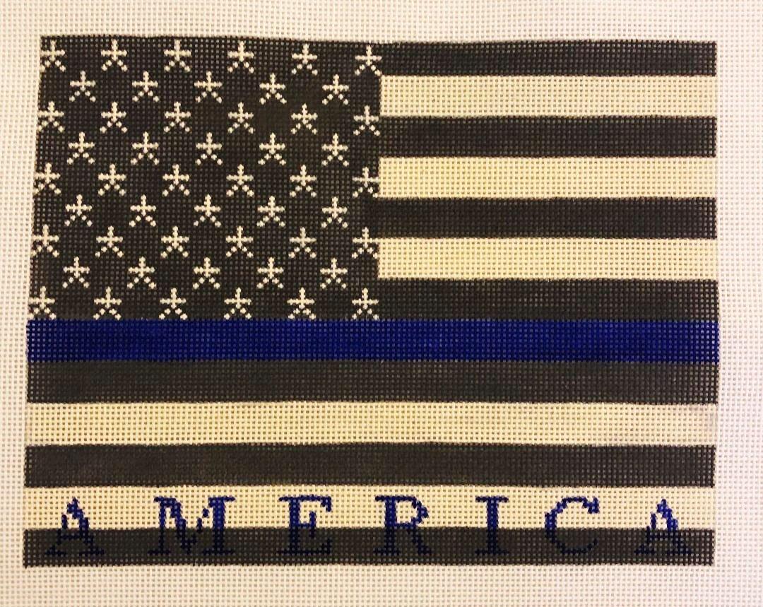 America on Blue US Flag