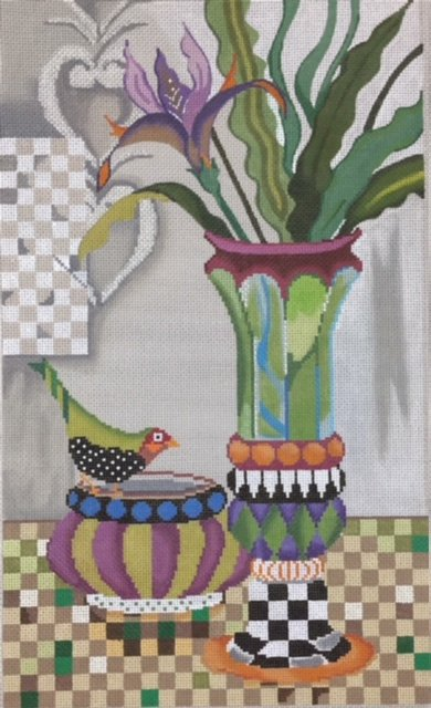 Bird with Vases