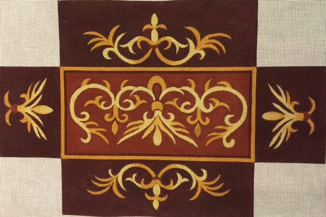 Brown with Gold Swirl Brick Cover