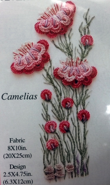 Brazilian Embroidery Kit, Camelias