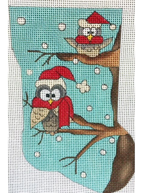 Ornament, Owls Mini Sock