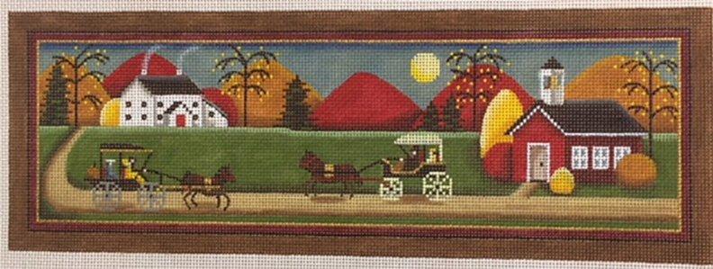 Fall Carriage Scene