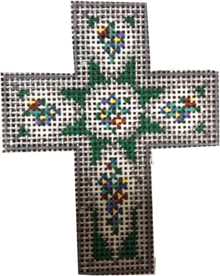 Cross, Cross in Silver and Dark Teal