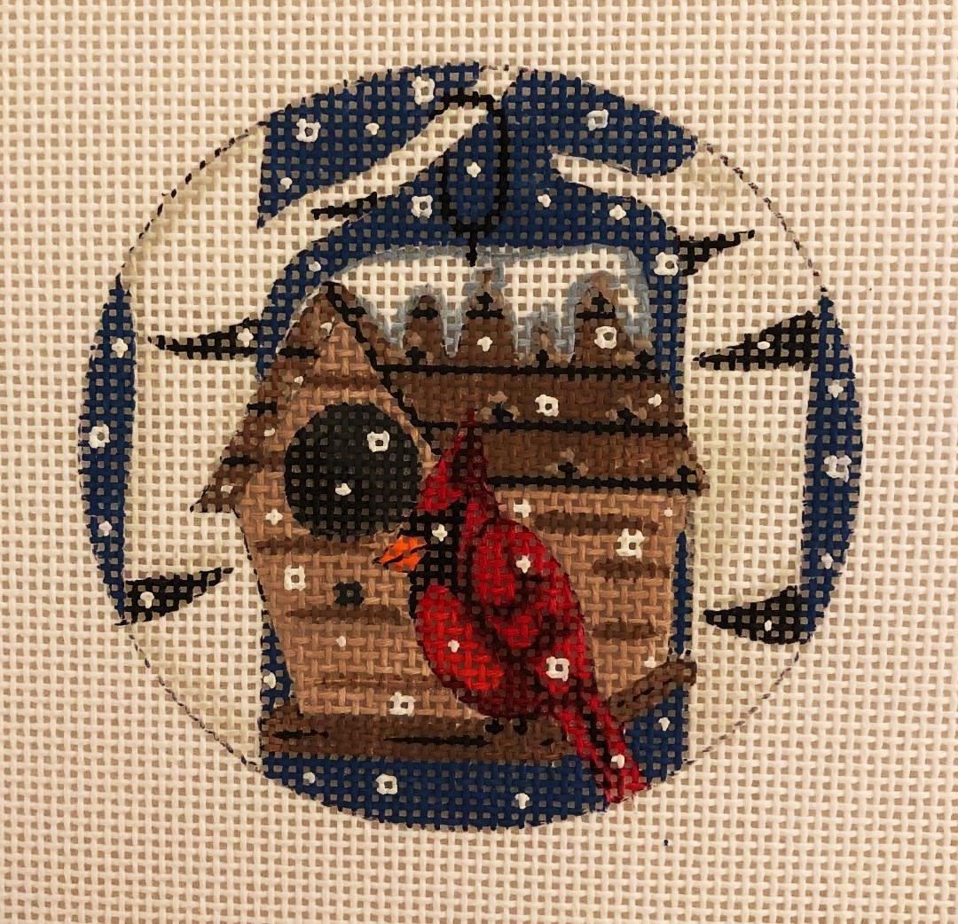 Ornament, Cardinal in Birdhouse
