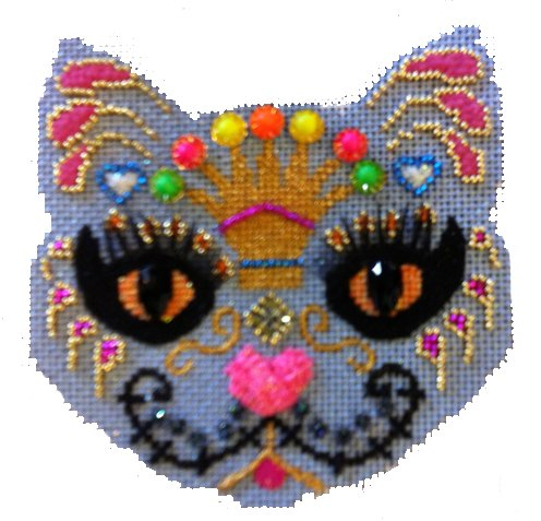 Day of the Dead Crown Cat