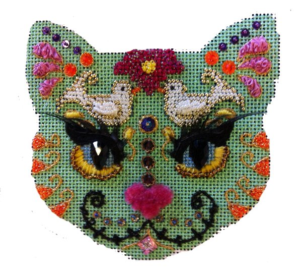 Day of the Dead Dove Cat