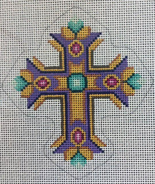 Cross, Purple and Teal