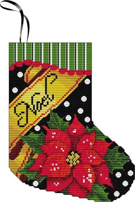 Cross Stitch, Noel Mini Stocking Kit