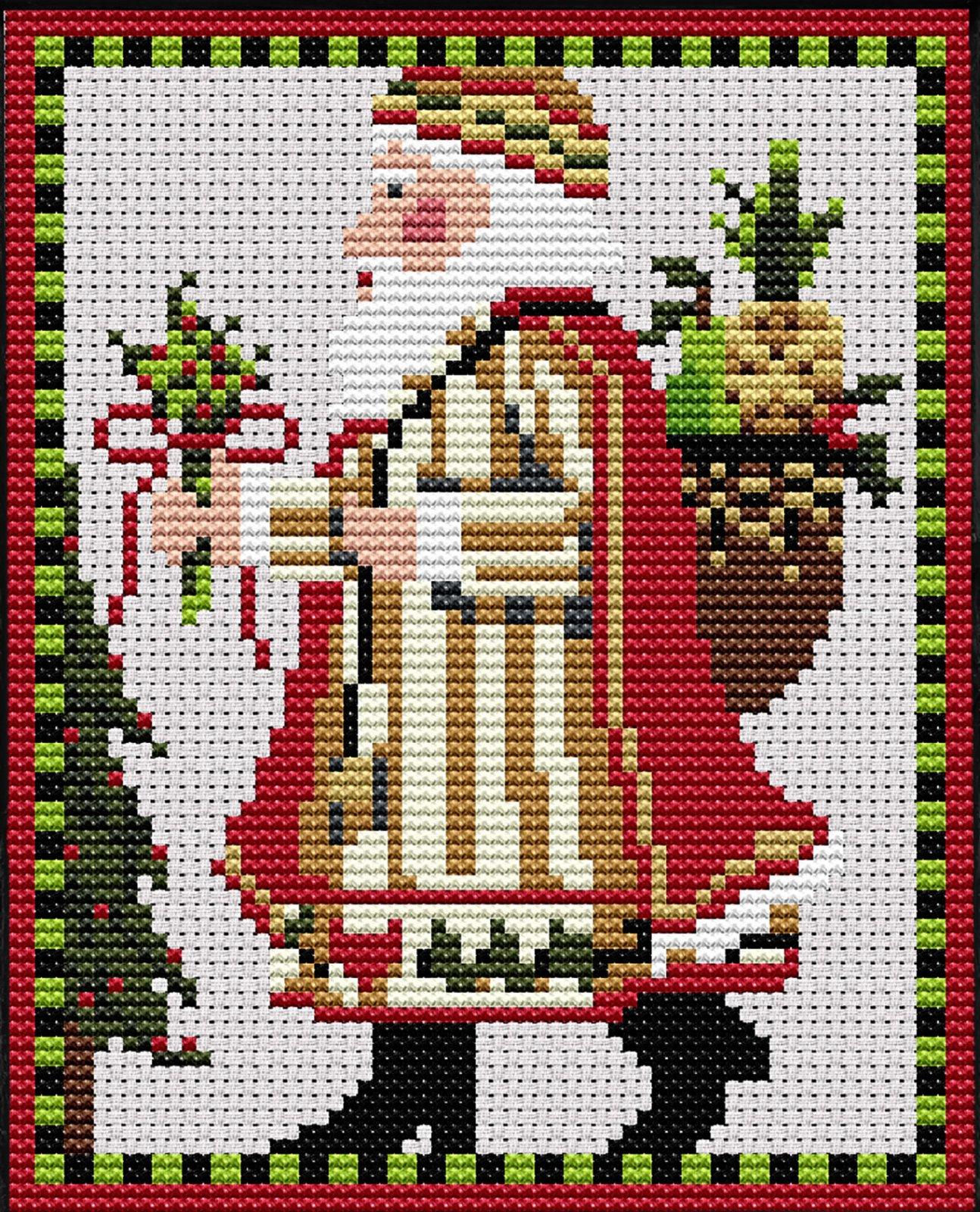 Cross Stitch, Swedish Mini Santa Kit