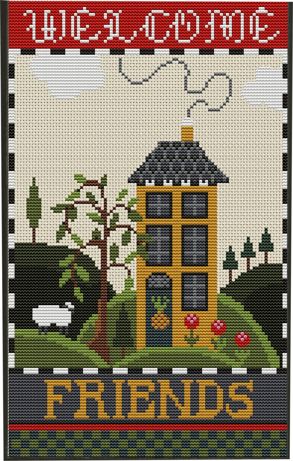 Cross Stitch, Welcome Friends Kit
