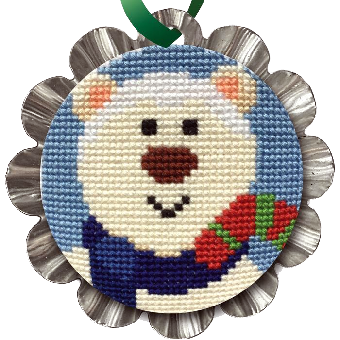 Cross Stitch, Jolly Polar Bear Tin Kit