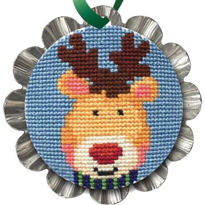 Cross Stitch, Jolly Reindeer Tin Kit