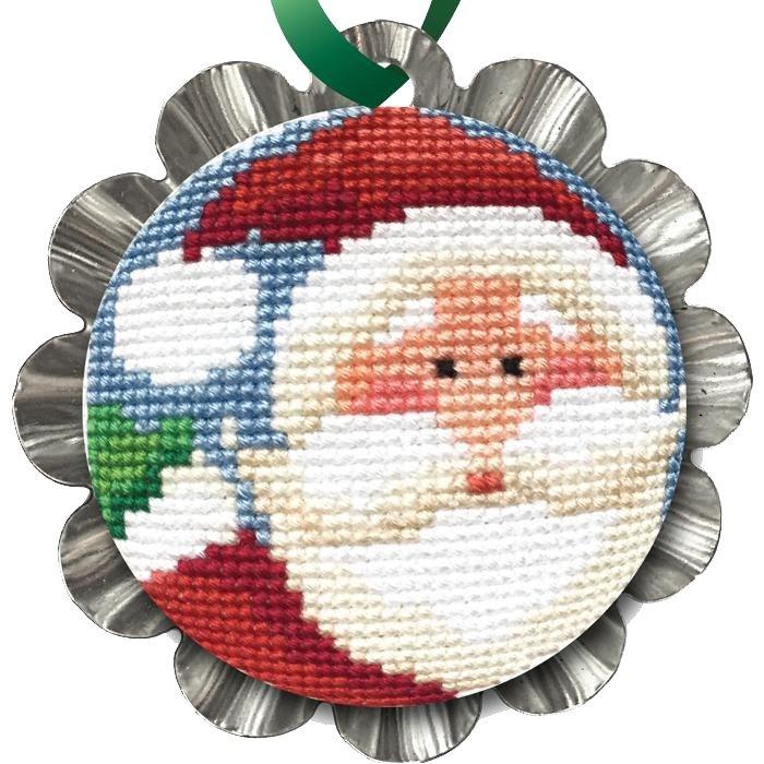 Cross Stitch, Jolly Santa Tin Kit