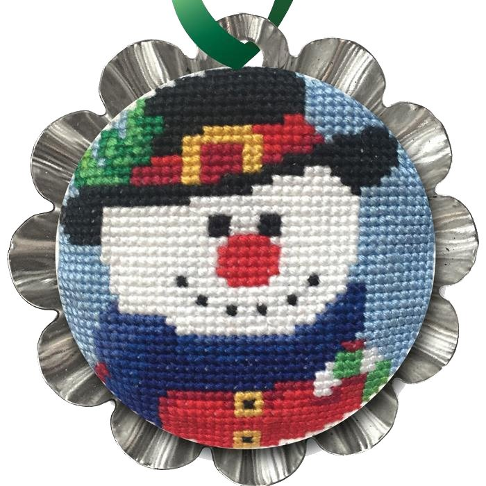 Cross Stitch, Jolly Snowman Tin Kit