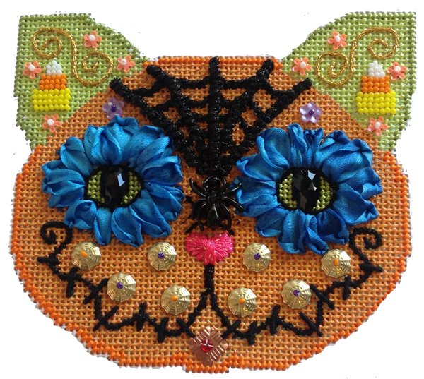 Day of the Dead Spider Cat