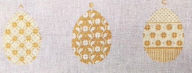 Eggs, Three Elegant Yellow with Gussets for Stitching (see both photos)
