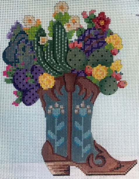 Floral Bouquet in Western Boot