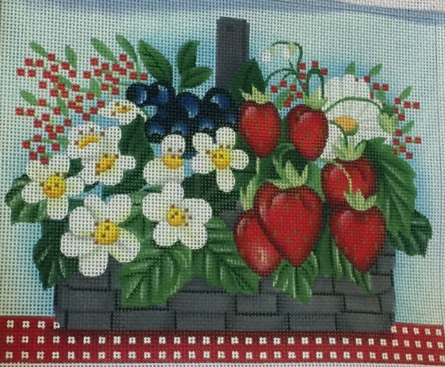 Flower Basket with Strawberries