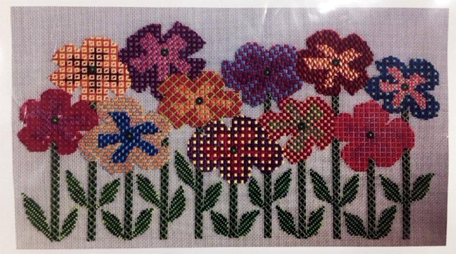 Needlepoint Flowers on Stems