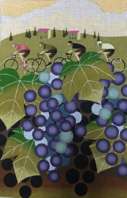 Bicyclists and Grapes