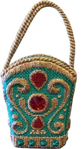Just Because Tiny Green Turquoise Bag