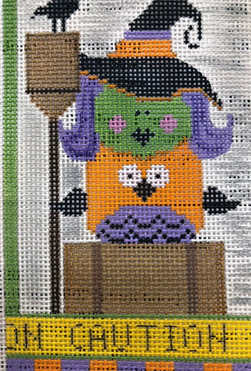 Witch with Purple Hair and Owl