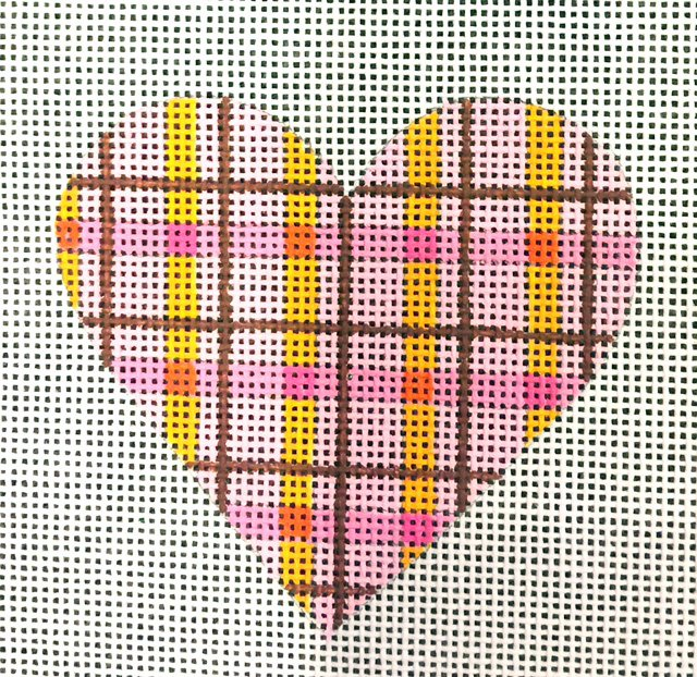 Heart, Pink Plaid