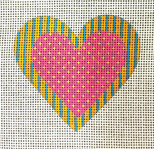 Pink Heart with Polka Dots