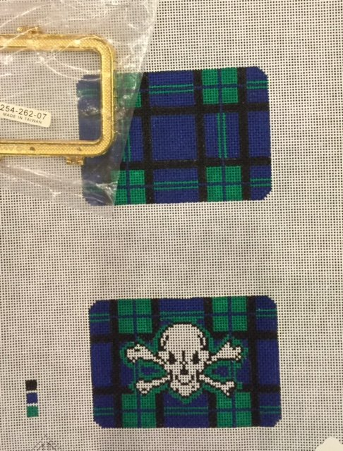 Skull and Crossbones Hinged Needle Case