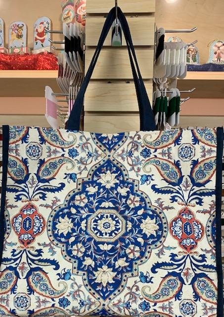 Tote, Blue Medallion