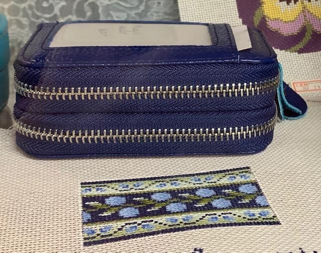 Wallet, Two Zippers Navy