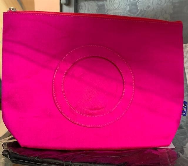 Zippered Bag, Hot Pink