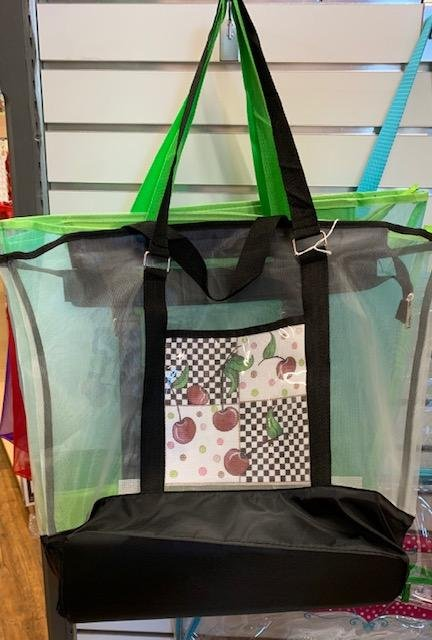 Tote, Clear with Stitching Display Pocket