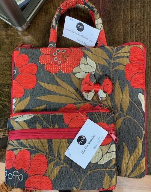 Tote, Bag, Organizer, Matching Poppy Print