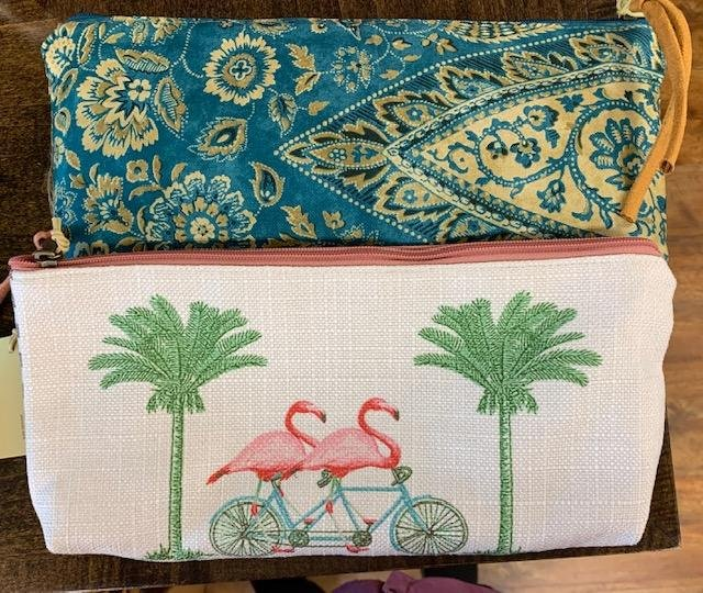 Bags, Zippered Pouches in Various Prints