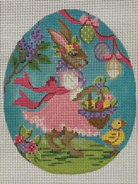 Egg, Bunny in Pink Dress