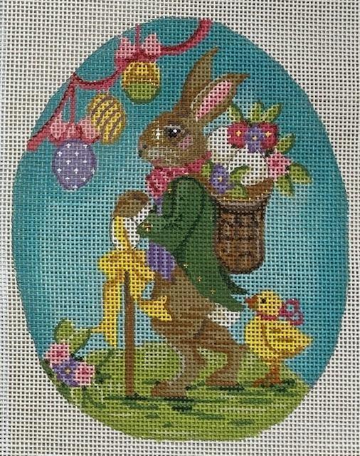 Egg, Rabbit with Basket Backpack