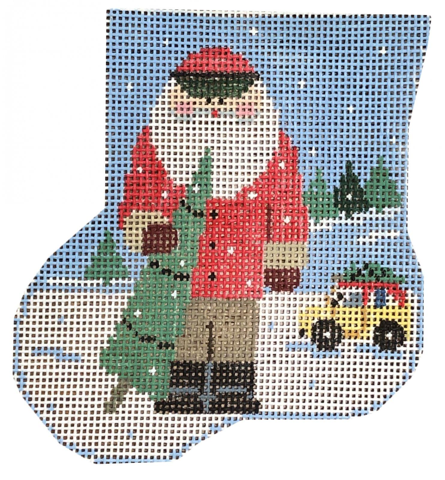 Ornament, Bringing Home the Tree w/ Santa