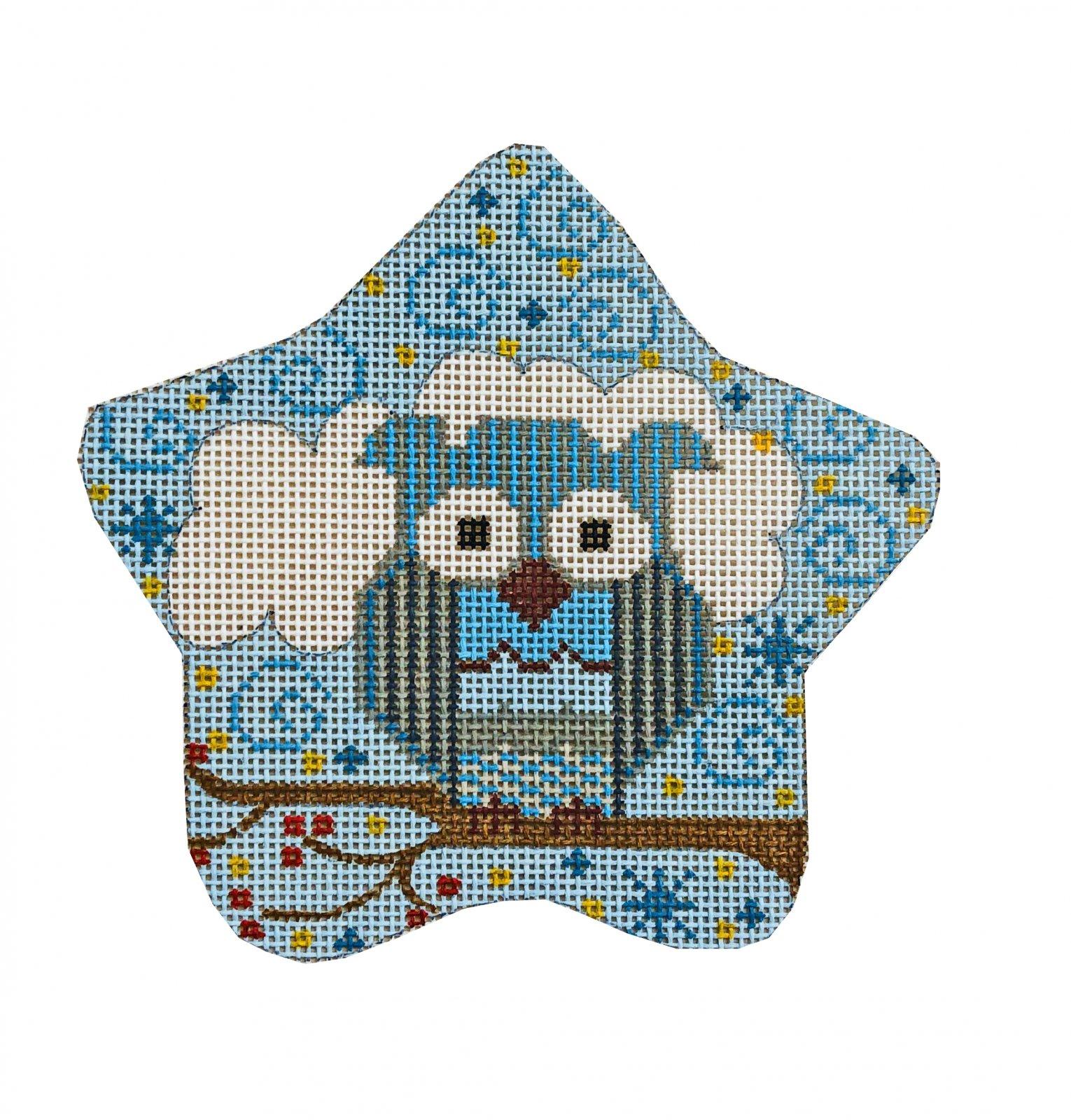 Owl Star Ornament