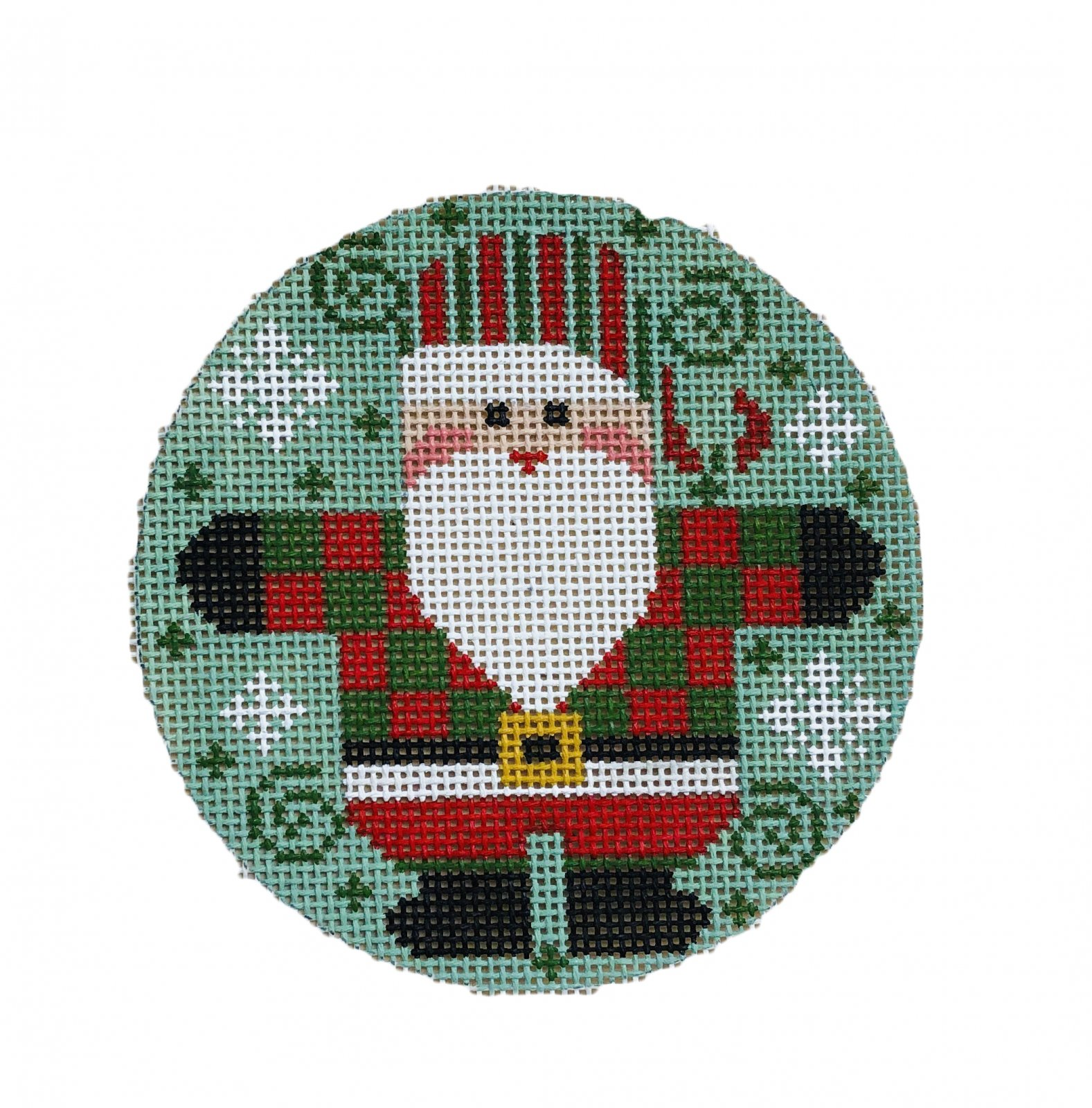 Ornament, Santa with Checkered Coat
