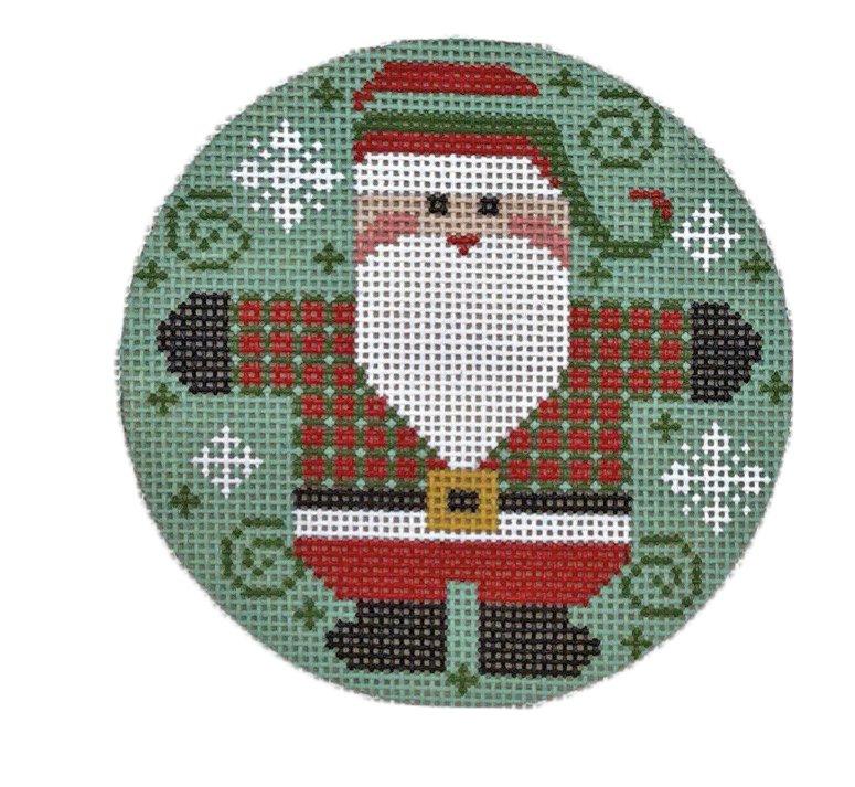 Ornament, Santa with Checkered Coat #2