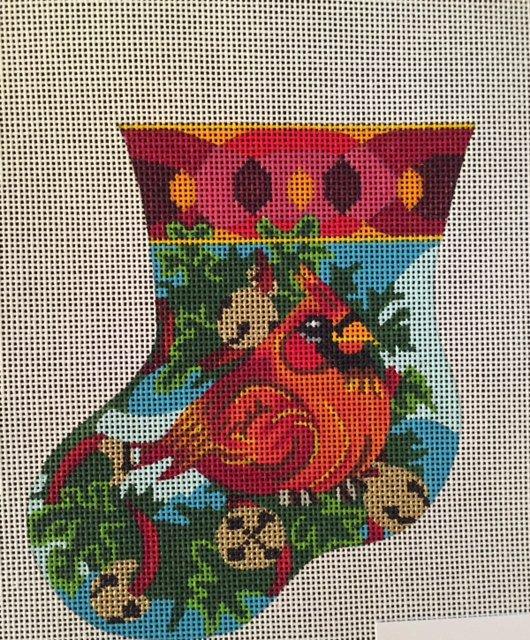 Ornament, Cardinal Mini Sock
