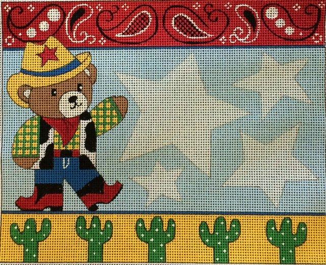 Cowboy Bear Birth Announcement