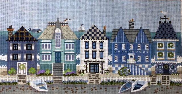 Melissa Shirley Blue Row Houses